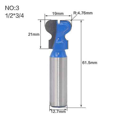 1pc 1/4  1/2  Shank Classical Double Finger Wood Router Bit C3 Carbide Wood Drawer Milling Cutters Woodworking Tools