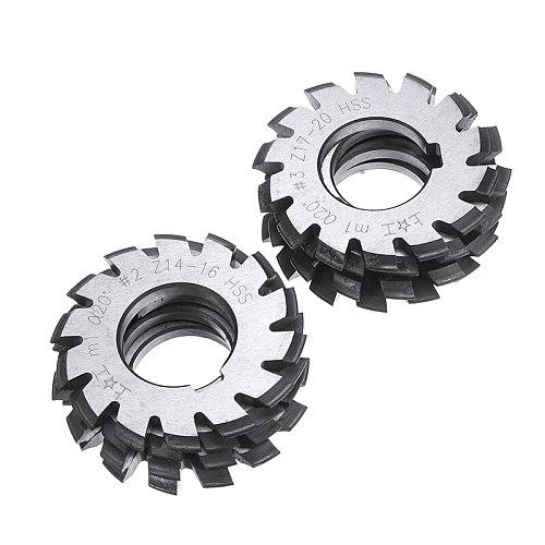 8pcs Module M1 Bore 22mm #1-8 HSS Involute Gear Milling Cutter High Speed Steel Milling Cutter Gear Cutting Tools