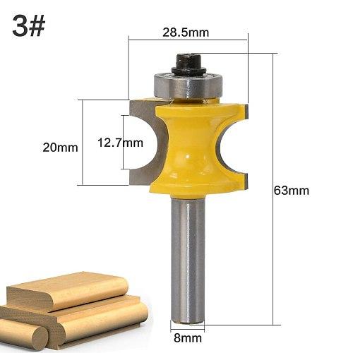 1Pc 8mm Shank Bullnose Router Bit Set C3 Carbide Tipped Woodworking cutter