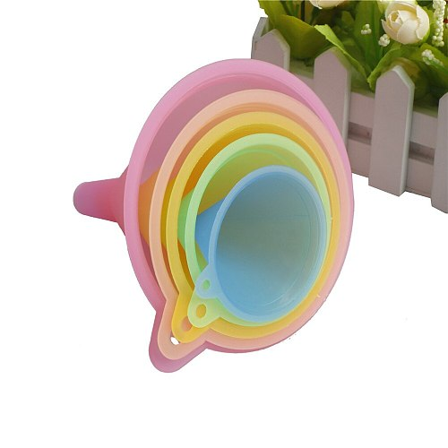 5PCS 5 Size Colorful Plastic Liquid Oil Funnel Kitchen Funnel