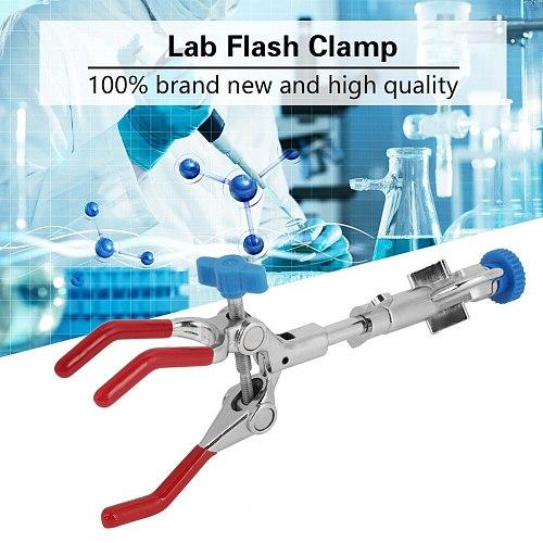Adjustable Three-Prong Swivel Flask Clamp Lab Test Tube Condenser Lab Holder