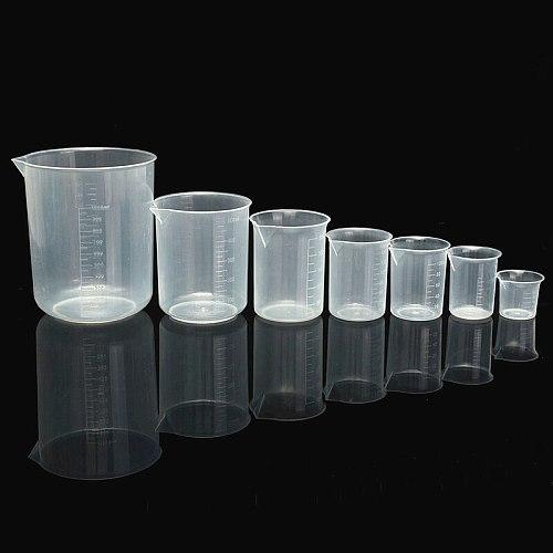 1Pc 50 100 150 250 500 1000ml Transparent Kitchen Laboratory Plastic Graduated Volumetric Beaker Container Measuring Cup Tool