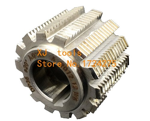 1PCS DP8/DP9/DP10/DP11/DP12/DP14/DP16/DP18/DP20/DP22/DP24 PA20 degrees HSS Gear hob Gear cutting tools Free shipping