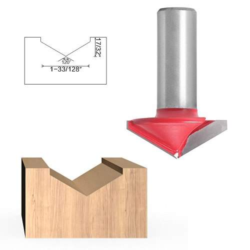 12.7mm Shank V Groove Bit CNC Solid Carbide End Mill 3D Router Bits Wood 90 120 Degree Tungsten Woodworking Milling Cutter