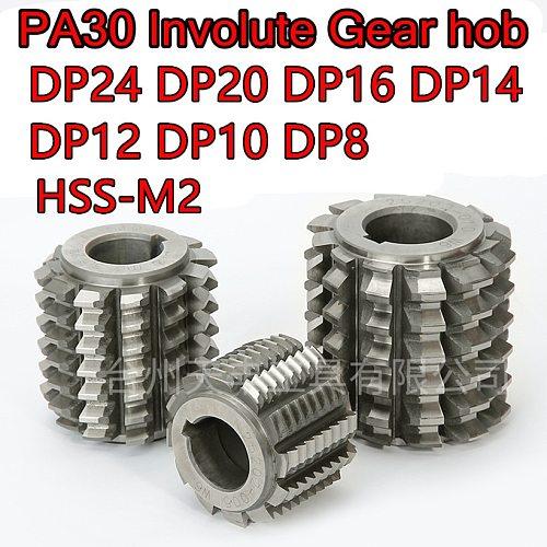 DP8 DP10 DP12 DP14 DP16 DP20 DP24 Pressure Angle PA30 High quality HSS M2 involute Gear hob