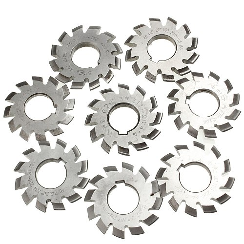 Module 2 M2 PA20 Degrees Bore 22mm #1-8 HSS Involute Gear Milling Cutter High Speed Steel Milling Cutter Gear Cutting Tools