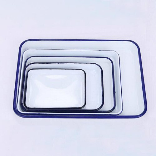 Free shipping 2PCS/LOT 20X30cm medical sterilize use enamel tray