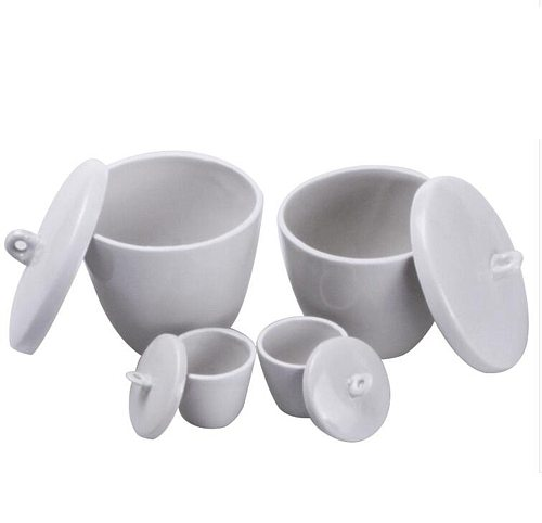 10ml 20ml 30ml 50ml 70ml 100ml 150ml 200ml 300ml Ceramic Porcelain Crucible With Cover Lid 1200 Celsius Lab Laboratory