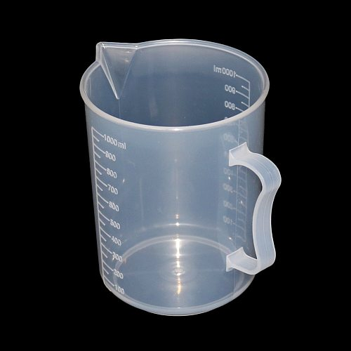 250/500/1000/2000ml Transparent Kitchen Laboratory Plastic Measuring Cup Graduated Volumetric Container Tool 1 Pcs