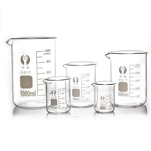 Capacity 5ml-100ml Low Form Beaker Measuring Glass Chemistry Lab Borosilicate Glass Transparent Beaker Wholesales