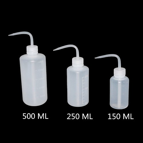 150/250/500ml LDPE Plastic Laborotary Tattoo Wash Squeezy Measuring Bottle For Laboratory Tools