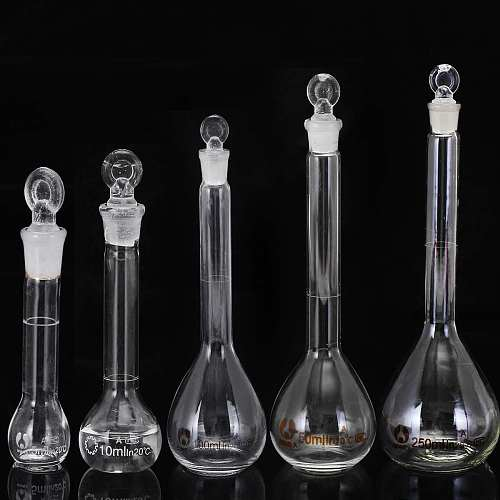 5-100ml 50ml Lab Glass Volumetric Flask with Stopper Lab Chemistry Glassware  Laboratory Equipment