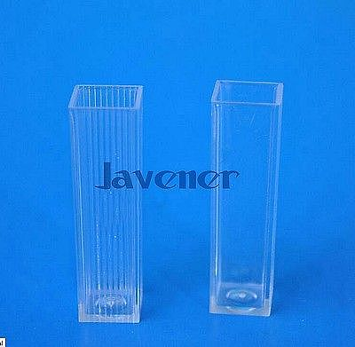 81Pcs A Box 4.5Ml Square Plastic Test Tubes Vials  Container Craft Cuvette Lab Kit Tools