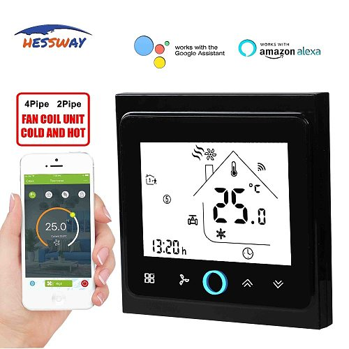 HESSWAY TUYA WIFI APP smart home THERMOSTAT google home for 4P fan coil unit temperature control