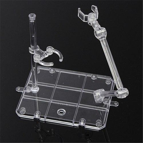 Kicute Action Base Suitable Display Stand for 1/144 HG/RG Figure+Hook Blue Transparent Movable Bracket Model Lab Clamp