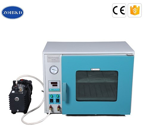 ZOIBKD DZF-6010 Stainless Steel Small Industrial Lab Drying Oven 0.28Cu Ft 8L Digital Degassing Drying OvenMini 2XZ-B portable