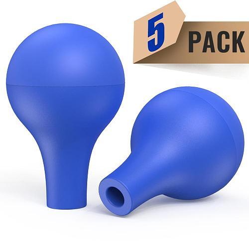 Glass Dropper Pipette Blue Rubber Head Lab Laboratory Equipment 5pcs by Ks-Tek