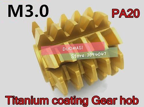 M3 modulus 70*60*27mm Inner hole PA 20 degrees HSS Titanium coating Gear hob Gear cutting tools Free shipping