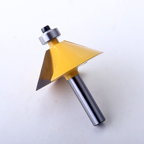 1pc 8mm Shank High Quality Large 45 Degree Chamfer & Bevel Edging Router Bit Wood Cutting Tool woodworking router bits - Chwjw