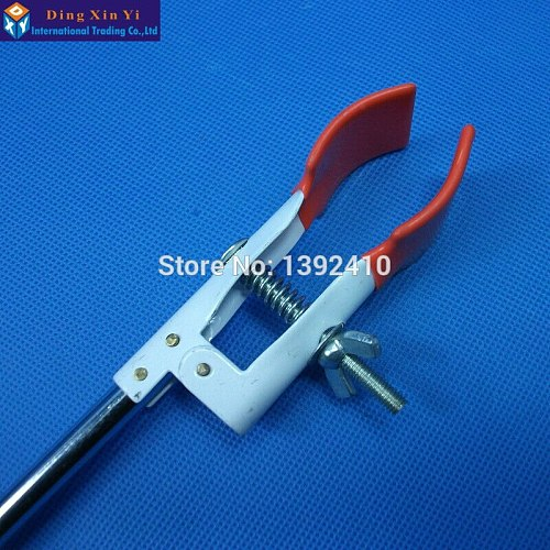 Long handle Flask Clamp 250mm Laboratory metal Holder Lab Stan Condenser Universal Coating process flask Clip