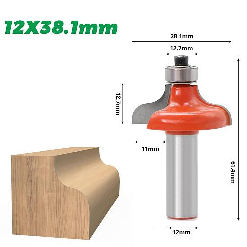 1pcs12mm shank Corner Round Over Router Bit with BearingMilling Cutter for Wood Woodwork Tungsten Carbide