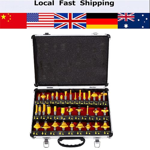 35pcs/set Milling Cutter 1/2 inch Shank Router Bits Set Woodworking Router bits Knife Combination With Box