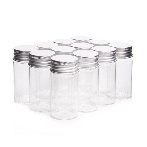 Direct aluminum cap control bottle transparent glass packaging small screw-only bottle laboratory bottle bottle medicine