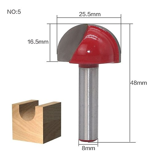 1pc 8mm Shank Double Edging Wood Router Bit Tungsten Carbide Cove Box Router Bit Woodworking Milling Cutter Cheap Price