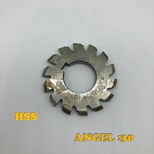 PA30 Involute gear milling cutter spline gear milling cutter pressure Angle 30 degrees m1m2m3m4m5m6m8m10