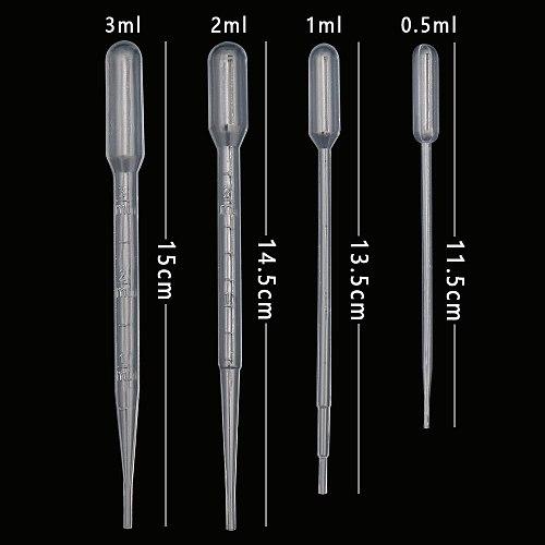 100/250Pcs Plastic Disposable Laboratory Transfer Graduated Pipettes Dropper Polyethylene Makeup Tools Supplies