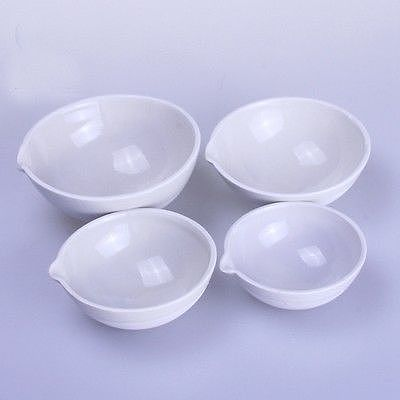 100ml Ceramic Evaporating dish Round bottom with spout For Chemistry Laboratory