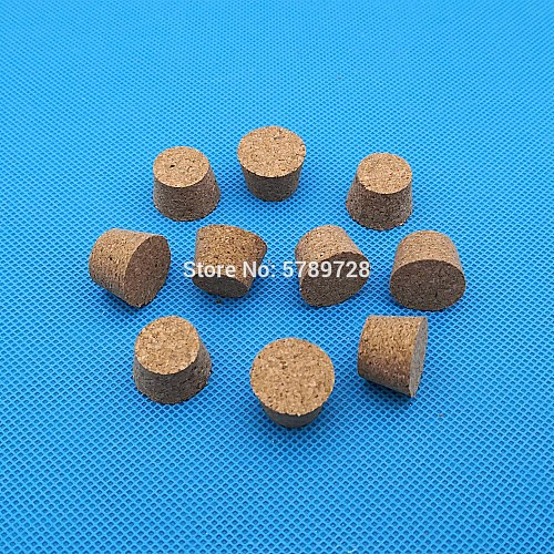 20pcs Top DIA 18mm to 54mm Wood Cork Lab Test Tube Plug Essential Oil Pudding Small Glass Bottle Stopper Lid Customized