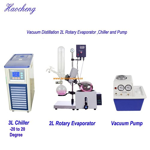 Free Shipping,Top Sale 2L Manual Lift Solvent Distillation Rotary Evaporator,chiller and Vacuum pump