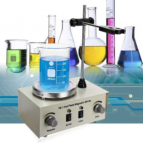 110/220V Heating Magnetic Stirrer Lab Mixer Machine 79-1 1000ml Hot Plate Magnetic Stirrer Lab Dual Control Mixer for stirring