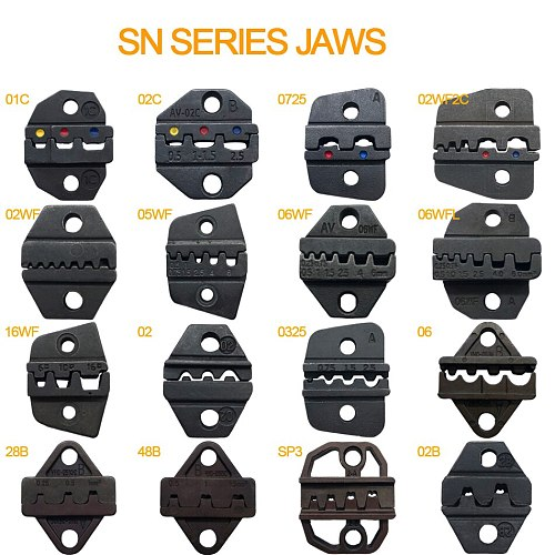 48B 28B crimping dies sn series crimper pliers jaws DuPont2.54/XH2.54/2.8/4.8/6.3/VH3.96/5557 plug/tube/Insulated terminals tool