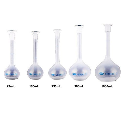 New School Lab Plastic Clear Vase Shape Measuring Flask Bottle With Stopper Long Neck Volumetric Durable Experiment Heatproof#63