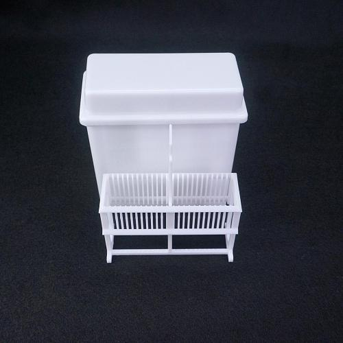 White PP Staining Rack Jar For 24 Slots Glass Slide Lab Apothecary Chemist