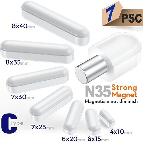 Mixed Size Stir bar PTFE Magnetic Stirrer Mixer Stir Bars 7pc by ks-tek