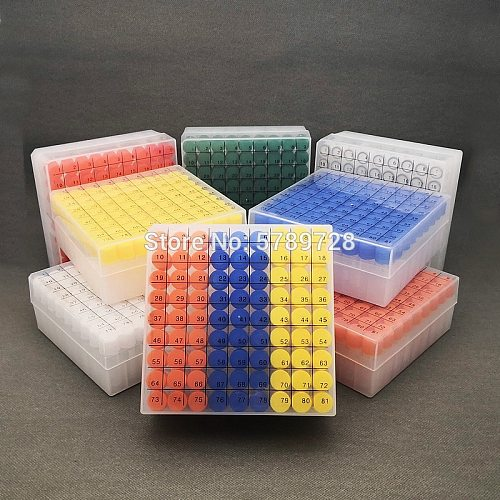 1set include one piece 81- lattice digital code Storage Box for Store Cryovial+81pieces 1.8ml plastic Refrigerating tube
