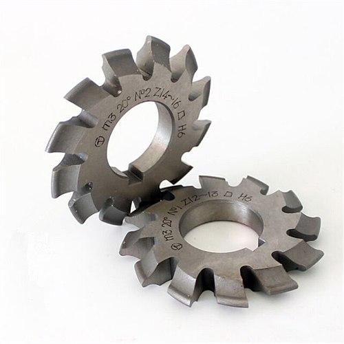 1PCS M0.5 M0.75 M1 M1.25 M1.5 M2 M2.5 M3 M4 M5-M10 Modulus PA20 degrees NO.1-NO.8 HSS Gear Milling cutter Gear cutting tools
