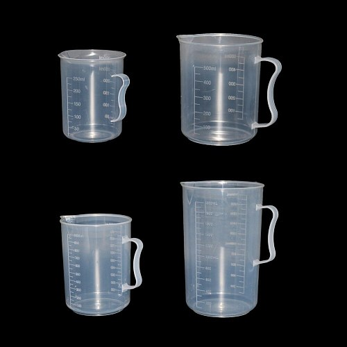 1 Pcs Plastic Measuring Cup Graduated Measuring Cylinder Tools kitchen Chemistry Lab Laboratory Accessories 250/500/1000/2000ml