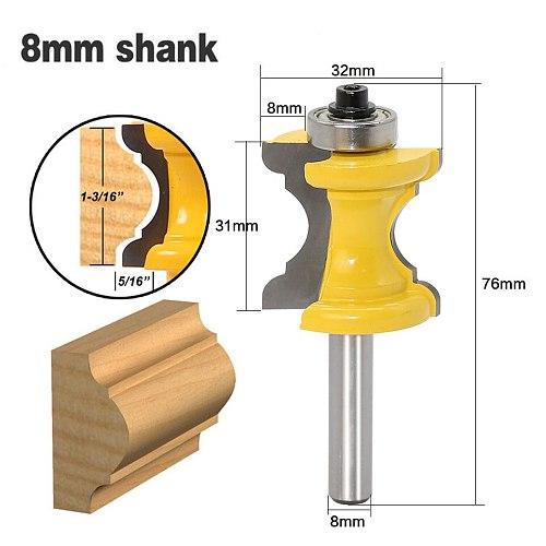 1pc 6.35mm/8mm/12.7mm Shank Bullnose Bead Column Molding Wood Router Bit Tungsten Carbide Wood Milling Cutter Dollar Price