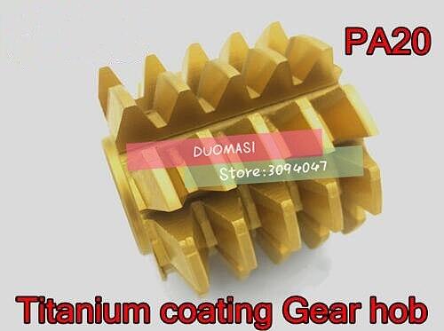 M1.5 M1.75 modulus 55*45*22mm Inner hole PA 20 degrees HSS Titanium coating Gear hob Gear cutting tools