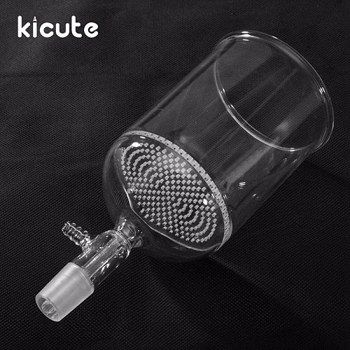 Kicute Laboratory Borosilicate Glass Funnel Buchner With 80mm Pore Plate 500ml 24/40 Lab Chemistry Equipment School Supply