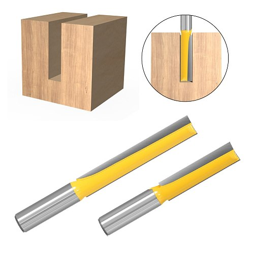 1/2 Inch 12mm Shank Straight Router Bit Woodworking Cutter Wood Cutting Tool Great Router Bit for Wood Slotting and Trimming