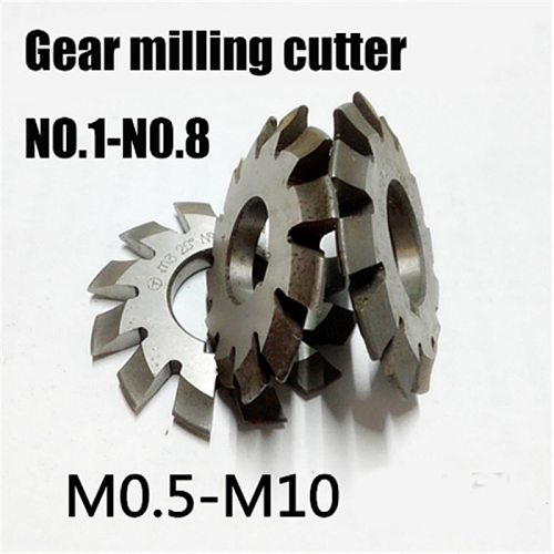 M0.5 M0.75 M1 M1.25 M2 M2.5 M3 M4-M10 Modulus PA20 degrees NO.1-NO.8 HSS Gear Milling cutter Gear cutting tools Free shipping