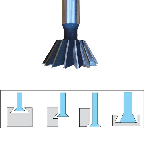 1pc 45/60 Degree HSS Dovetail Cutter End Mill Milling 10mm 12mm 14mm 16mm 18mm 20mm 25mm 30mm 32mm 35mm 40mm 45mm 50mm 60mm