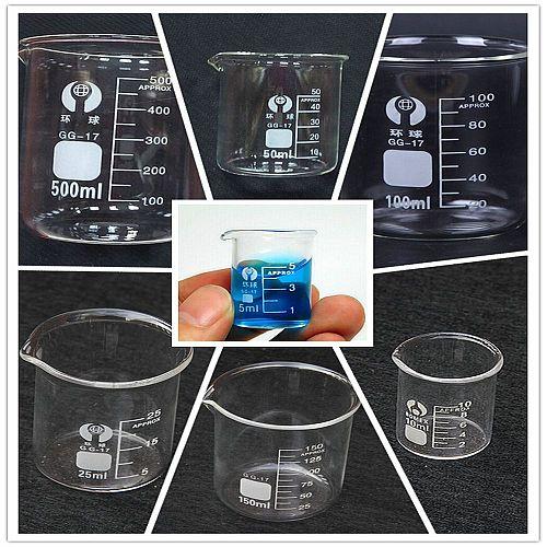 5ml,10ml,50ml,100ml Beaker Chemistry Laboratory Measuring Glass Pyrex Beaker Lab Borosilicate Glassware 1pc Chemistry