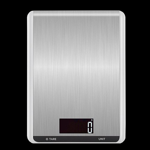 New kitchen scale stainless steel nutrition scale 5kg high precision food baking scale electronic platform scale 10kg spot