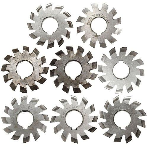 Module 2.5 M2.5 PA20 Degrees Bore 22mm #1-8 HSS Involute Gear Milling Cutter High Speed Steel Milling Cutter Gear Cutting Tools